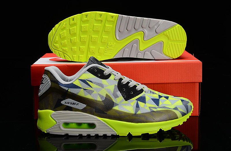 Nike Air Max 90 Hyperfuse Grey Black Green Shoes