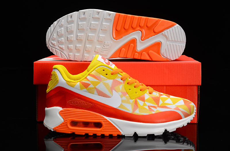 Nike Air Max 90 Hyperfuse Yellow Orange White Shoes