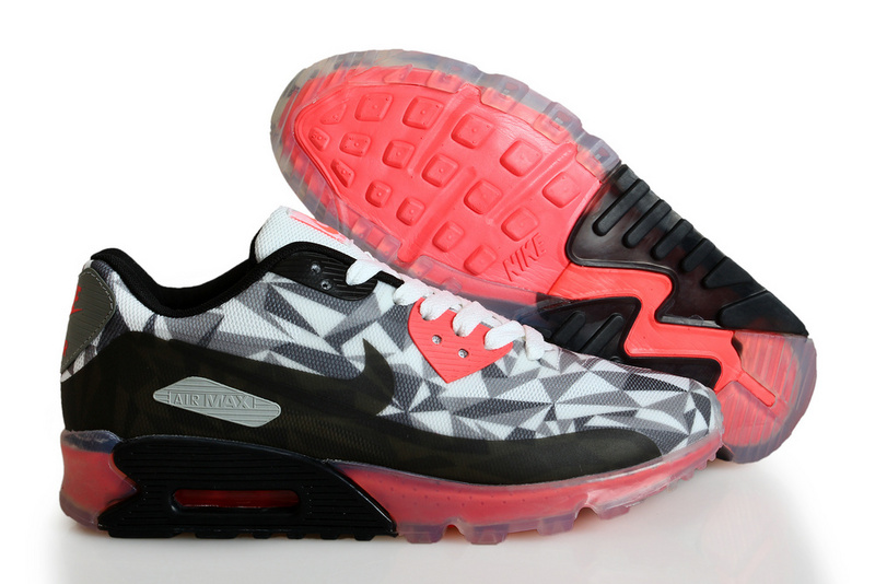 Nike Air Max 90 ICE Black Grey Red Shoes
