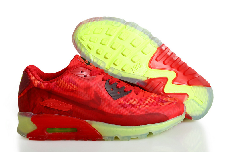 Nike Air Max 90 ICE Red Yellow Shoes