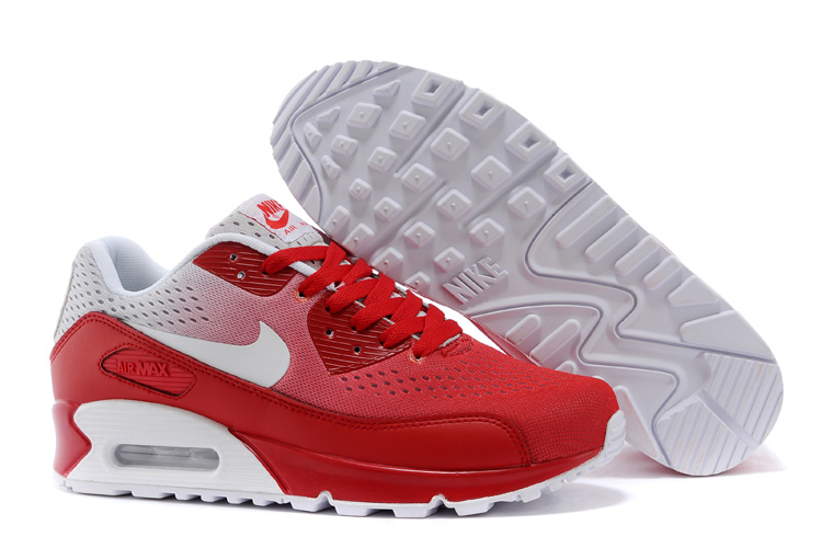 Nike Air Max 90 Knit Red White Shoes