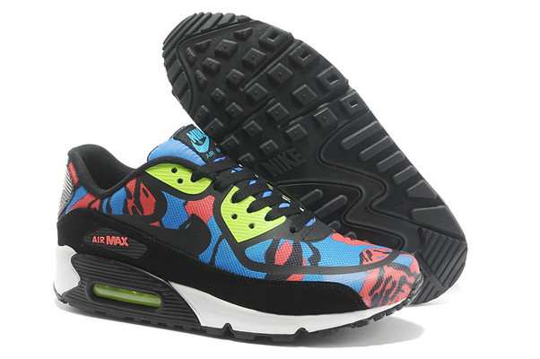 Nike Air Max 90 PREM TAPE Black Red Blue Lover Shoes