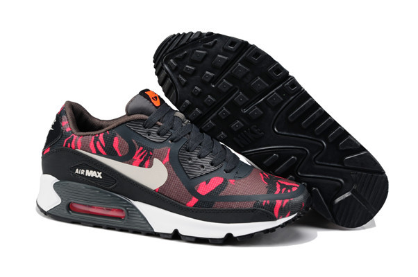 Nike Air Max 90 PREM TAPE Black Red Lover Shoes
