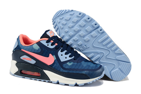 Nike Air Max 90 PREM TAPE Blue Red White Lover Shoes