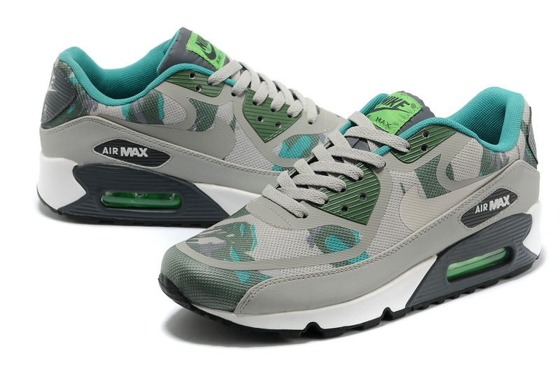 Nike Air Max 90 PREM TAPE Grey Army Blue Shoes