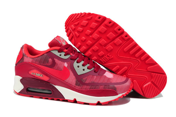 Nike Air Max 90 PREM TAPE Red White Lover Shoes