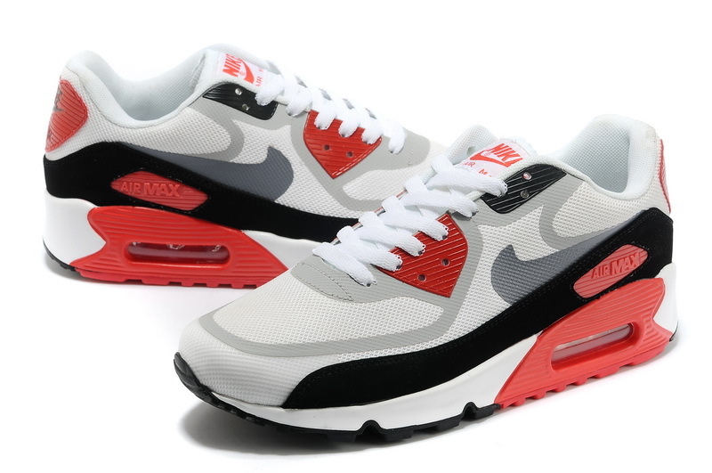 Nike Air Max 90 PREM TAPE White Black Red Shoes