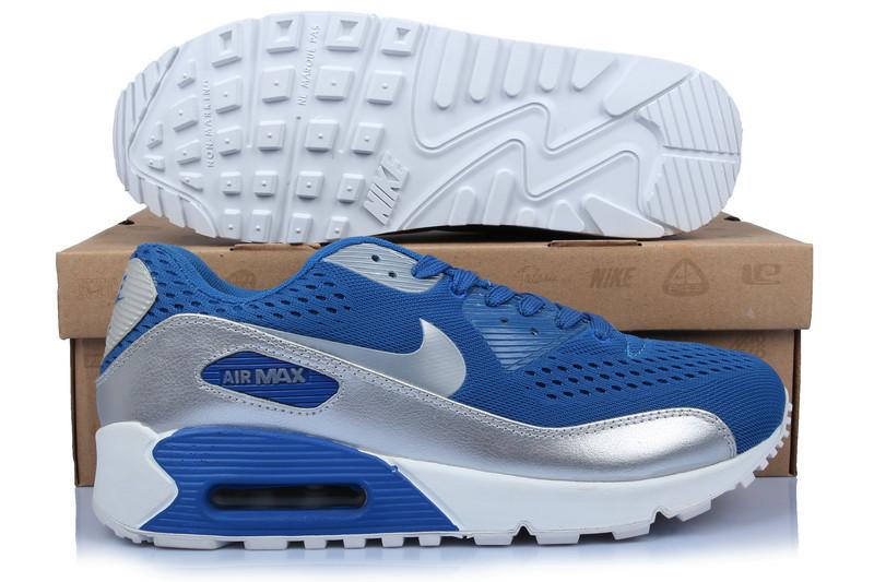 Nike Air Max 90 Premium EM Blue Silver White