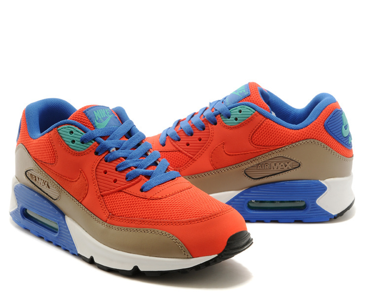 Men Nike Air Max 90 Red Grey Blue