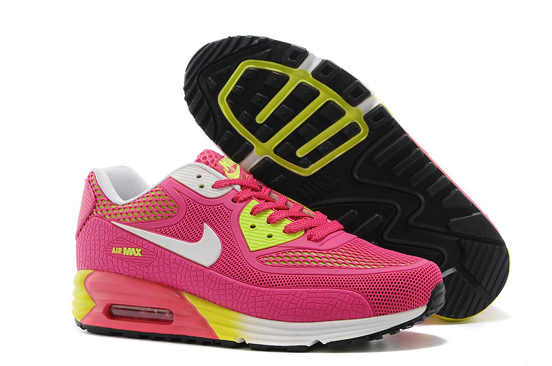 Nike Air Max 90 Rubber Patch 25th Anniversary Peach White Yellow For Women