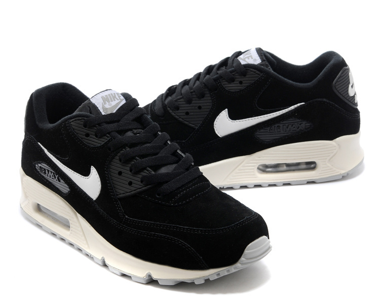 Nike Air Max 90 Suede Black White Shoes