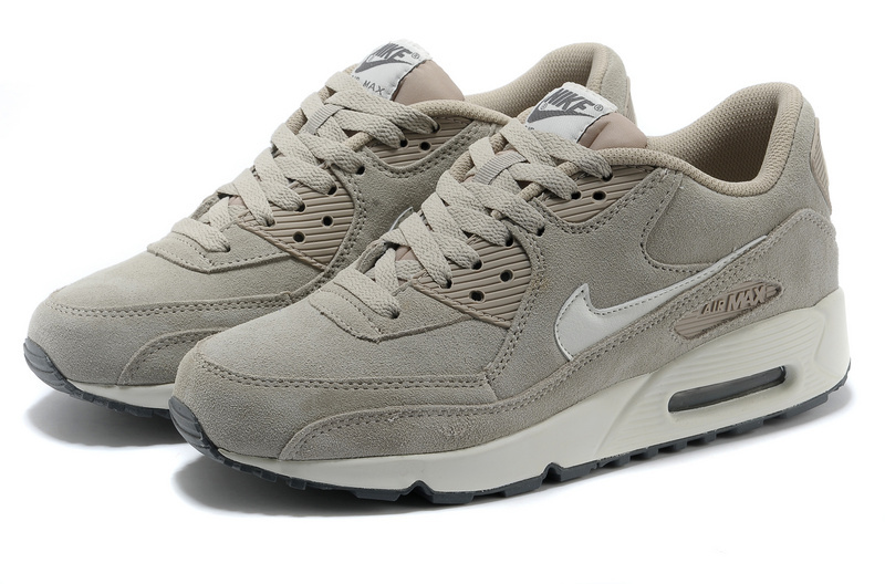 Nike Air Max 90 Suede Light Grey Shoes