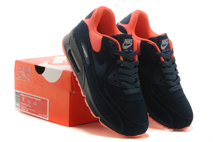 Nike Air Max 90 Suede Wool Black Red Shoes