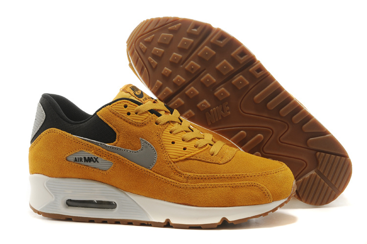 Nike Air Max 90 Suede Wool Yellow White Shoes
