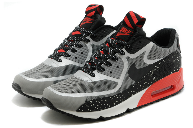 Nike Air Max 90 Tape PRM Black Grey Red Shoes