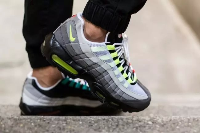Nike Air Max 95 Black Grey Fluorscent Shoes