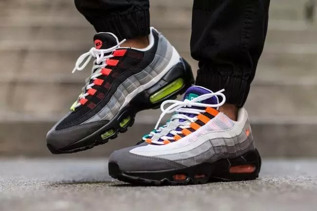 Nike Air Max 95 Black White Orange Shoes