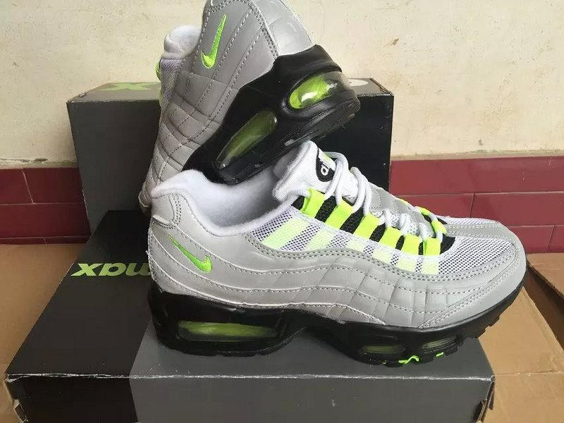Nike Air Max 95 Grey Fluorscent Green Shoes