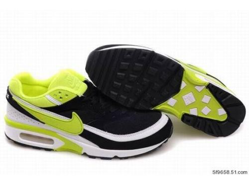 Nike Air Max BW Shoes Black Green White