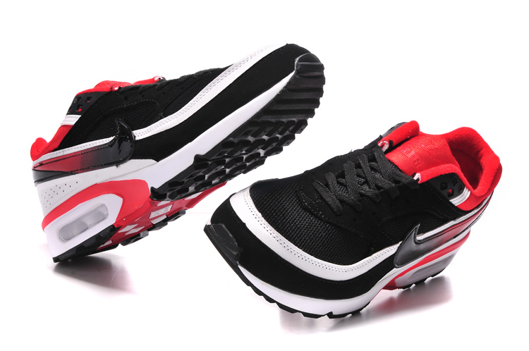 Nike Air Max BW Shoes Black White Red