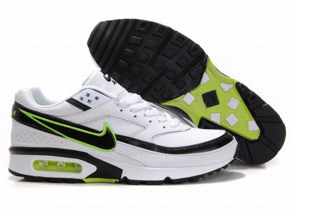 Nike Air Max BW Shoes White Black Green