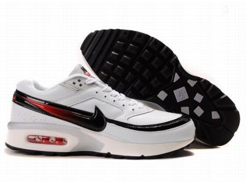Nike Air Max BW Shoes White Black Red