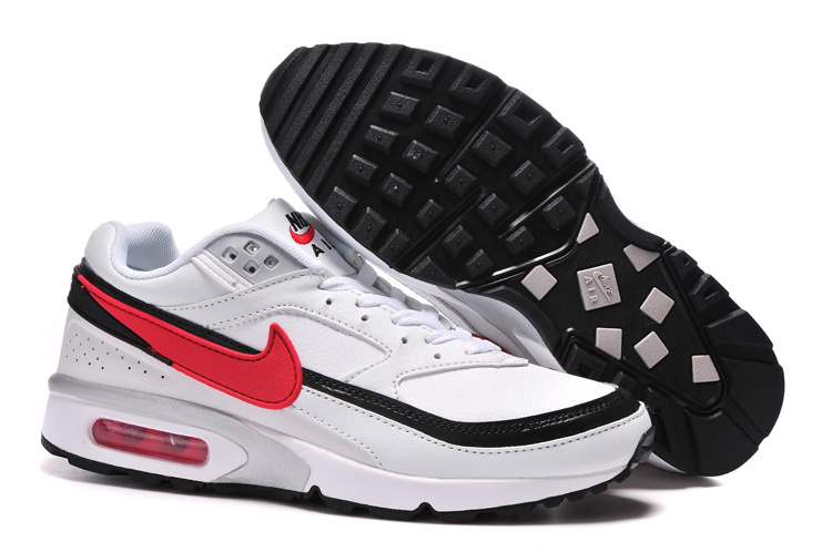 Nike Air Max BW Shoes White Grey Black Red