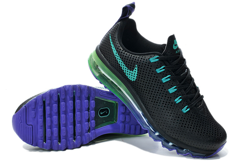 Nike Air Max Motion 2014 Black Green Blue Shoes
