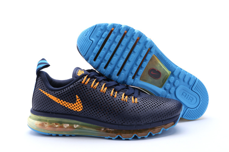 info for 946ed 011c8 Nike Air Max Motion 2014 Shoes Dark Blue Orange Blue