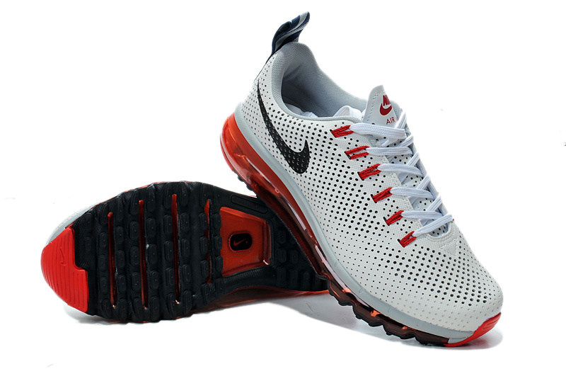 Nike Air Max Motion 2014 White Red Black Shoes