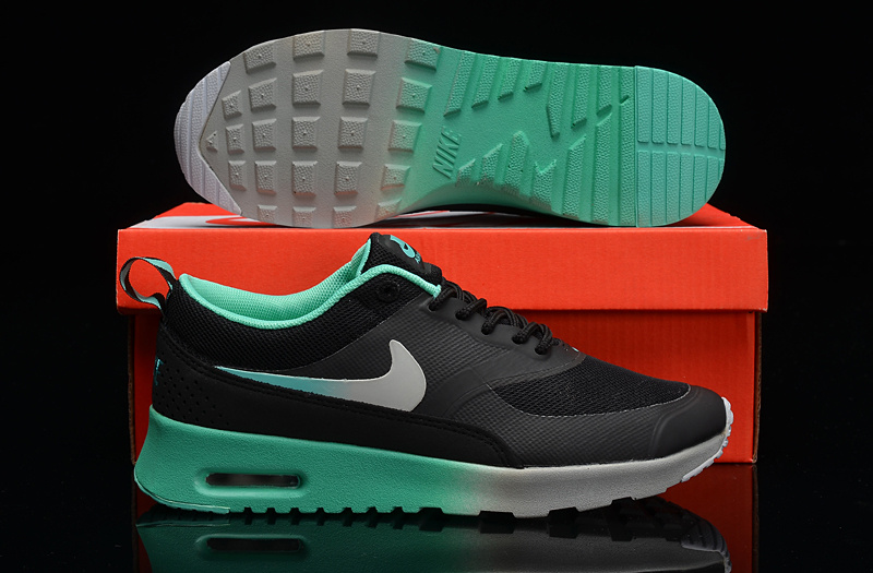 Nike Air Max THEA PRINT Black Grey Green Shoes