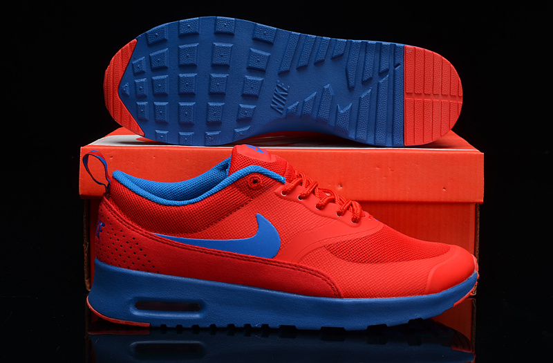 Nike Air Max THEA PRINT Orange Blue Shoes