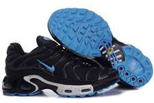 Nike Air Max TN Shoes Black Blue Logo