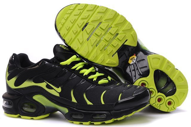 Nike Air Max TN Shoes Black Green Logo
