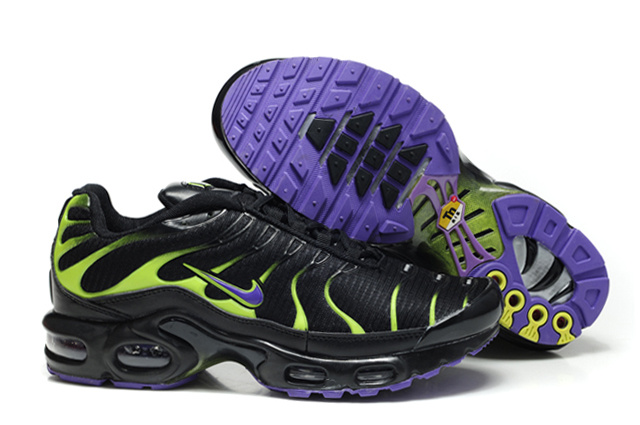 Nike Air Max TN Shoes Black Green Purple Logo