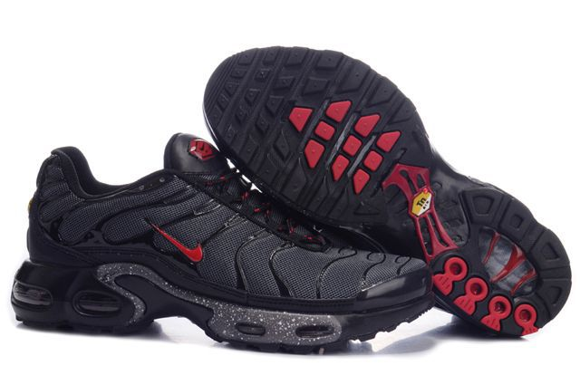 Nike Air Max TN Shoes Black Red Logo