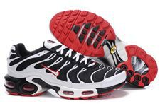 Nike Air Max TN Shoes Black White Red