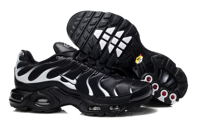 Nike Air Max TN Shoes Black White White Logo