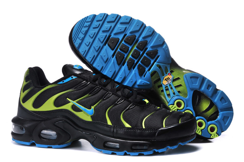 Nike Air Max TN Shoes Black Yellow Blue