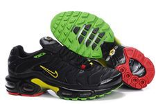 Nike Air Max TN Shoes Black Yellow Green