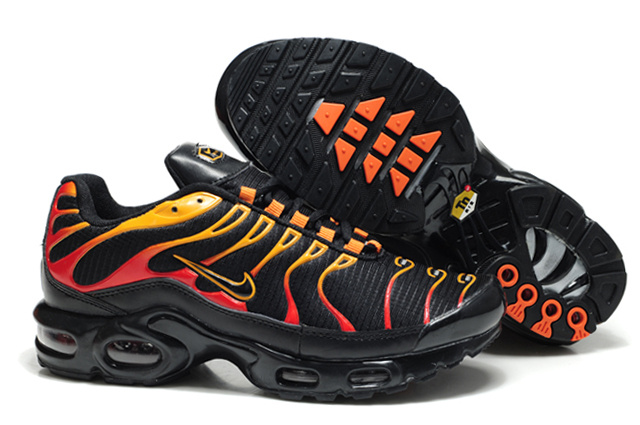 Nike Air Max TN Shoes Black Yellow Red