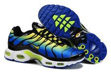 Nike Air Max TN Shoes Blue Yellow White