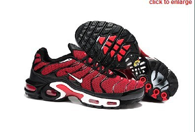 Nike Air Max TN Shoes Red Black White Logo
