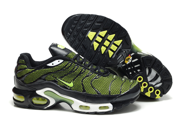 Nike Air Max TN Shoes Yellow Black White