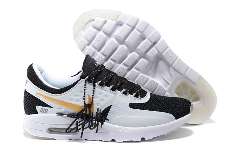 Nike Air Max Zero 87 II Midnight Black White Yellow Shoes
