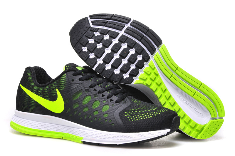 Nike Air Zoom Pegasus 31 Black Fluorscent Green Running Shoes
