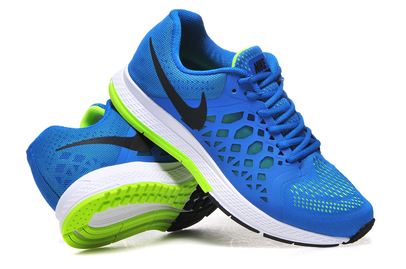 Nike Air Zoom Pegasus 31 Blue White Fluorscent Running Shoes