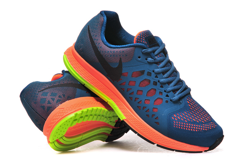 Nike Air Zoom Pegasus 31 Deep Blue Orange Fluorscent Running Shoes