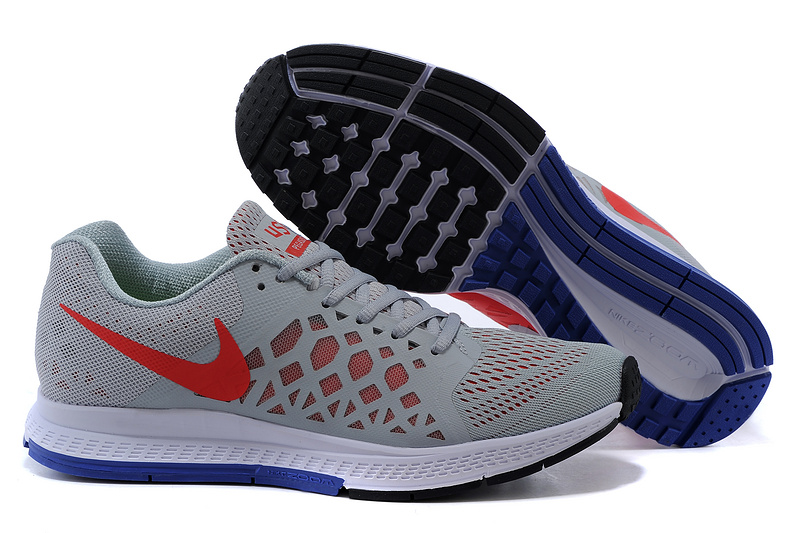 Nike Air Zoom Pegasus 31 Grey Red Blue Running Shoes
