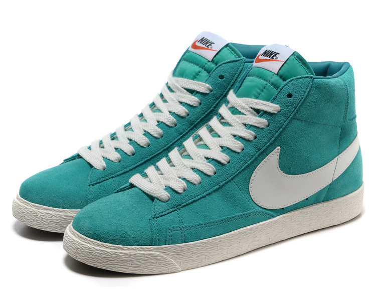 Nike Blazer 1 High Green White Women's Shoes